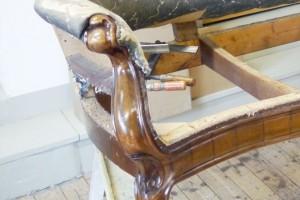 Sanierung des Holzgestells